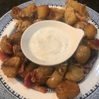 Roasted Potatoes & Chili Lime Dip